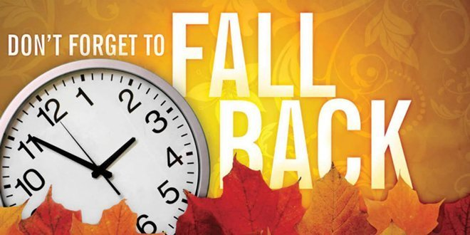 Don't forget – Daylight Savings Time Ends this Weekend!